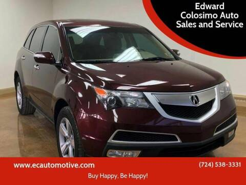 2012 Acura MDX for sale at Edward Colosimo Auto Sales and Service in Evans City PA