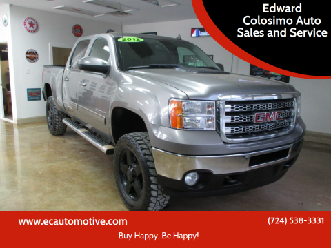 2012 GMC Sierra 2500HD for sale at Edward Colosimo Auto Sales and Service in Evans City PA
