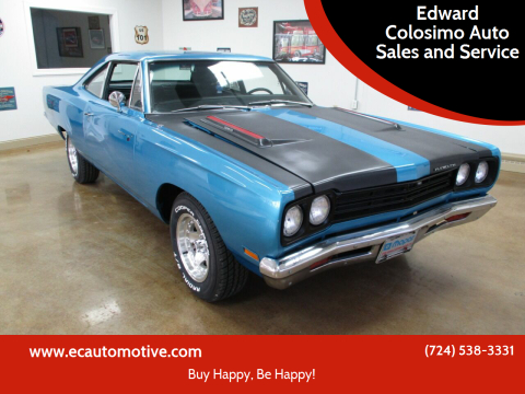 1969 Plymouth Roadrunner for sale at Edward Colosimo Auto Sales and Service in Evans City PA