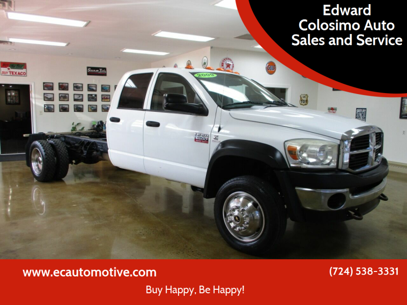 2009 Dodge Ram Chassis 5500 for sale at Edward Colosimo Auto Sales and Service in Evans City PA