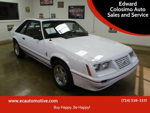 1984 Ford Mustang for sale at Edward Colosimo Auto Sales and Service in Evans City PA