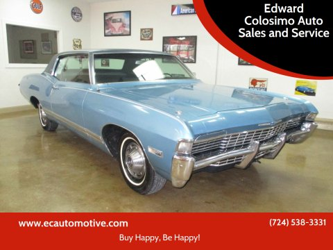 1968 Chevrolet Caprice for sale at Edward Colosimo Auto Sales and Service in Evans City PA