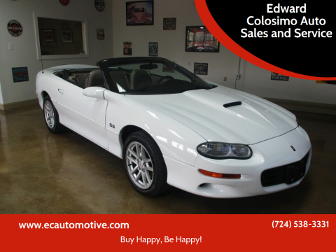 2000 Chevrolet Camaro for sale at Edward Colosimo Auto Sales and Service in Evans City PA