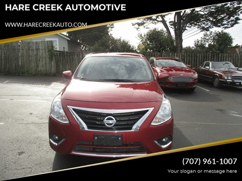 2018 Nissan Versa for sale at HARE CREEK AUTOMOTIVE in Fort Bragg CA