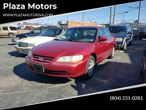 2002 Honda Accord EX for sale at Plaza Motors in Richmond VA