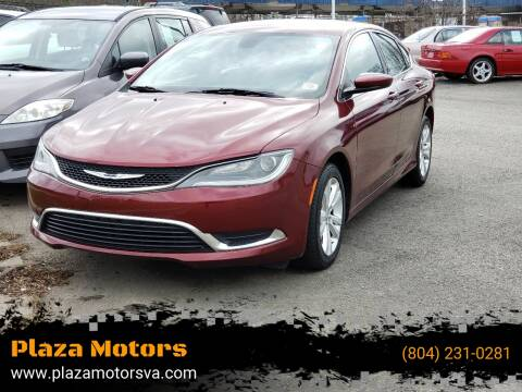 2015 Chrysler 200 Limited for sale at Plaza Motors in Richmond VA