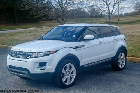2015 Land Rover Range Rover Evoque Pure Plus for sale at AUTO IQ Inc. in Greenville SC