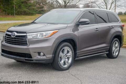 2015 Toyota Highlander for sale at AUTO IQ Inc. in Greenville SC