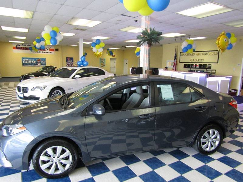2016 Toyota Corolla for sale at Manassas Automobile Gallery in Manassas VA