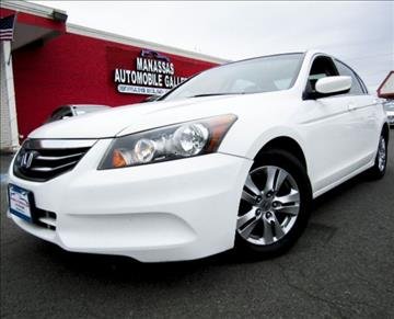2012 Honda Accord for sale at Manassas Automobile Gallery in Manassas VA