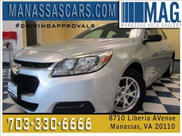 2014 Chevrolet Malibu for sale at Manassas Automobile Gallery in Manassas VA