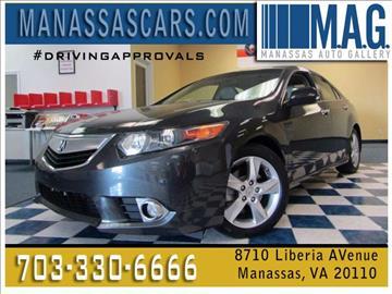 2011 Acura TSX for sale at Manassas Automobile Gallery in Manassas VA