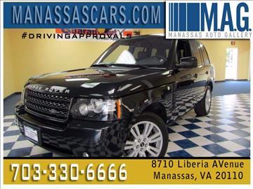 2012 Land Rover Range Rover for sale at Manassas Automobile Gallery in Manassas VA