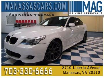 2008 BMW 5 Series for sale at Manassas Automobile Gallery in Manassas VA