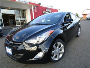 2013 Hyundai Elantra for sale at Manassas Automobile Gallery in Manassas VA