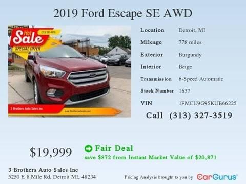 2019 Ford Escape for sale in Detroit, MI