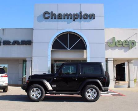 2021 Jeep Wrangler for sale at Champion Chevrolet in Athens AL