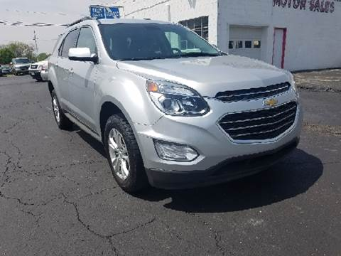 2016 Chevrolet Equinox for sale at BELLEFONTAINE MOTOR SALES in Bellefontaine OH