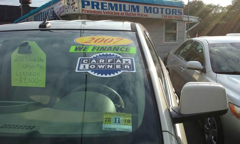 2007 Ford Edge for sale at Premium Motors in Rahway NJ