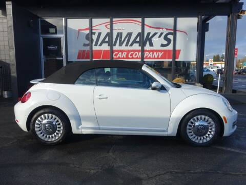 2015 Volkswagen Beetle Convertible for sale at Siamak's Car Company llc in Salem OR