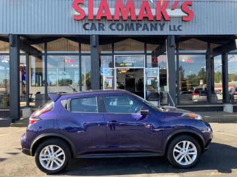 2015 Nissan JUKE SV for sale at Siamak's Car Company llc in Salem OR