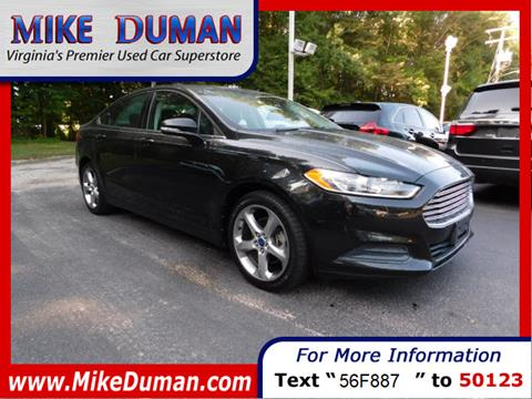 2013 Ford Fusion for sale in Suffolk, VA