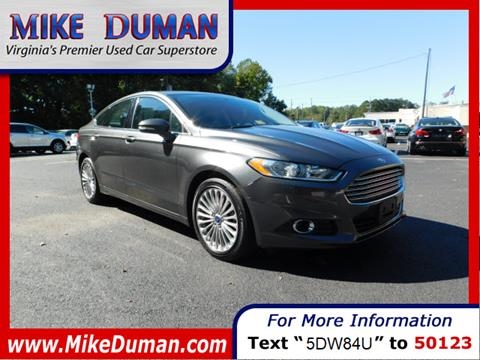 2016 Ford Fusion for sale in Suffolk, VA