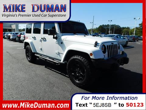 2016 Jeep Wrangler Unlimited for sale in Suffolk, VA