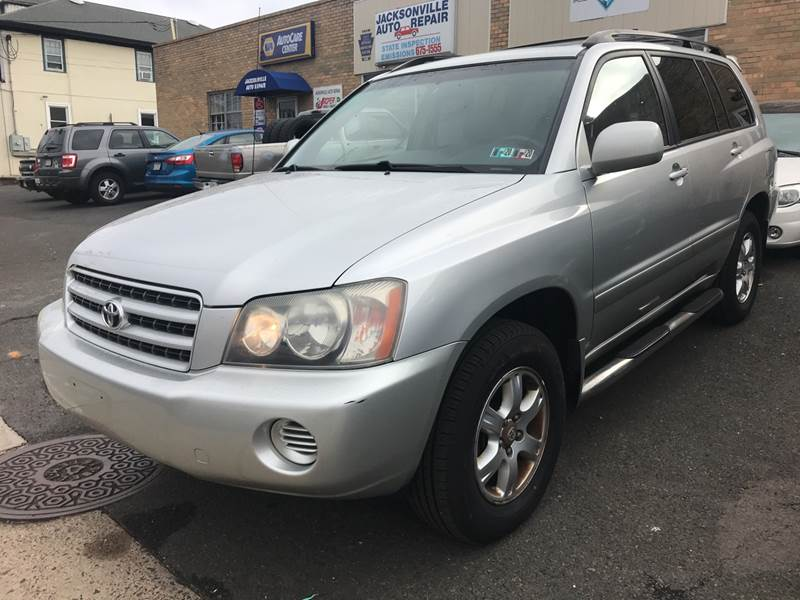 2001 Toyota Highlander for sale at 611 CAR CONNECTION in Hatboro PA