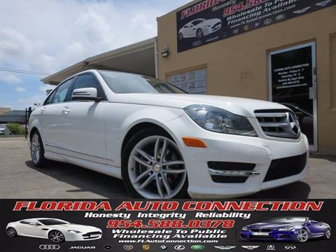 2013 Mercedes-Benz C-Class for sale at FLORIDA AUTO CONNECTION in Hollywood FL