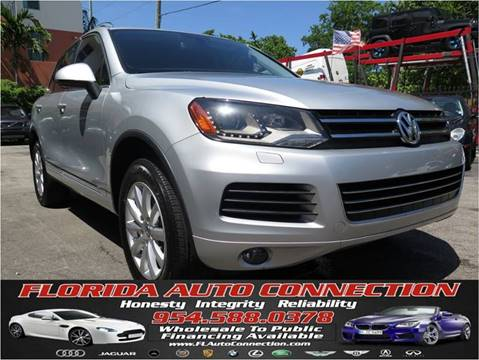 2012 Volkswagen Touareg for sale at FLORIDA AUTO CONNECTION in Hollywood FL