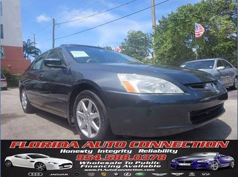 2003 Honda Accord for sale at FLORIDA AUTO CONNECTION in Hollywood FL