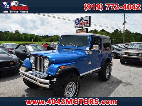 1983 Jeep CJ-7 for sale in Garner, NC