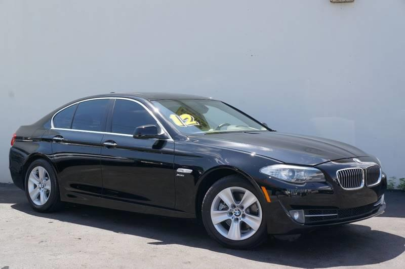 2012 BMW 5 SERIES 528I XDRIVE AWD 4DR SEDAN jet black carfax certifiedno accidentslow mi