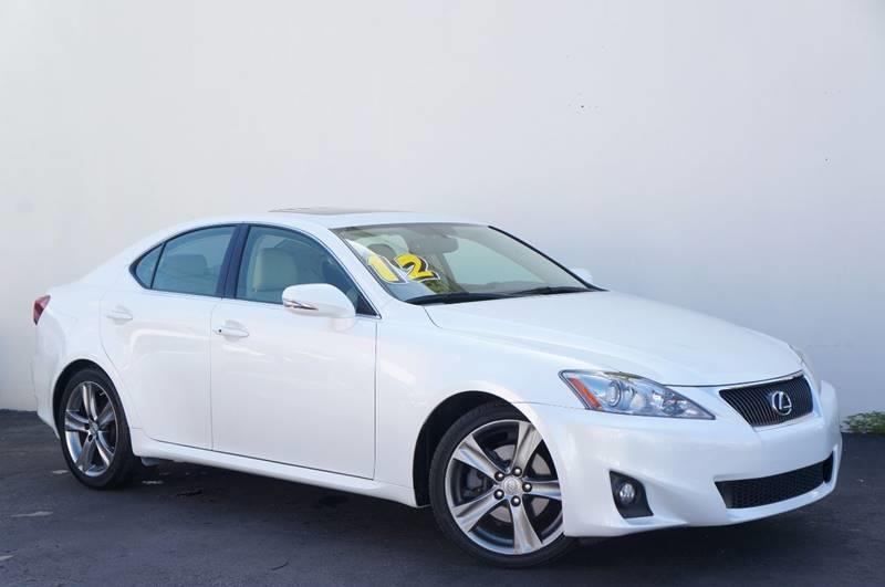 2012 LEXUS IS 250 BASE 4DR SEDAN 6A starfire pearl light gray wleather seat trim or perforate