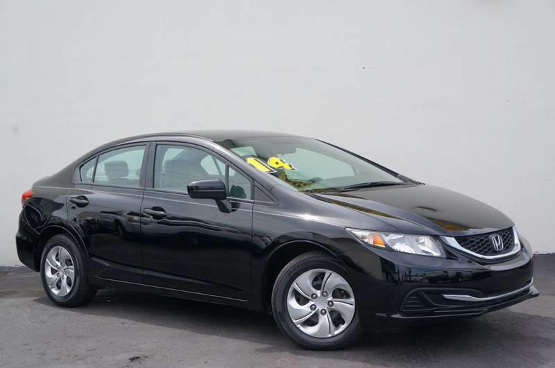 2014 HONDA CIVIC LX 4DR SEDAN CVT crystal black pearl 1 ownerlow milesback up camera1