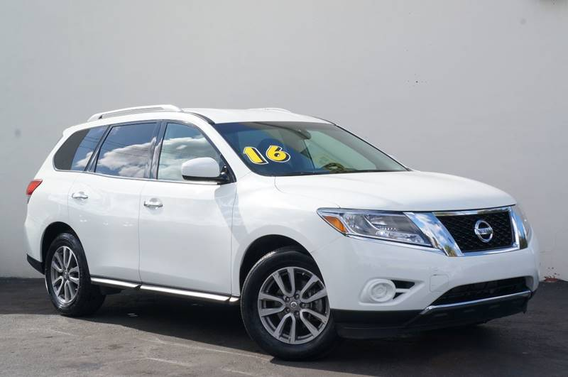 2016 NISSAN PATHFINDER S 4DR SUV glacier white 1 ownerremaining factory warrantyradio a