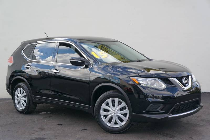2015 NISSAN ROGUE SV 4DR CROSSOVER super black carfax certifiedno accidents1 ownerfue