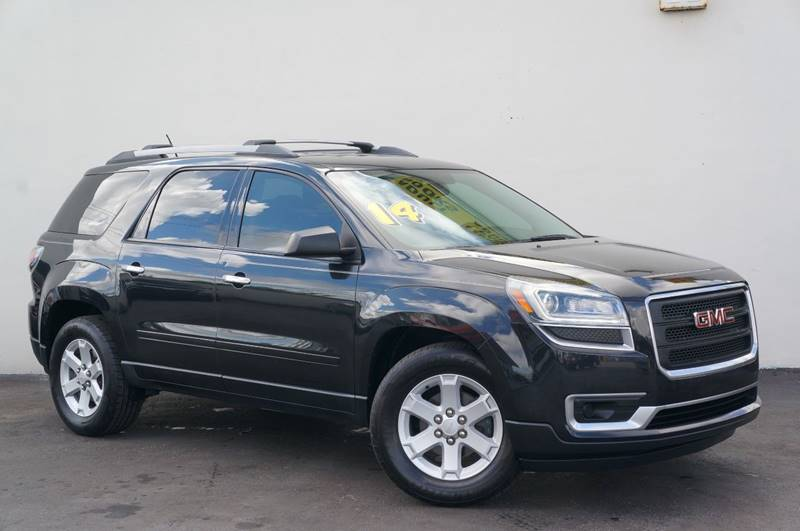2014 GMC ACADIA SLE 1 4DR SUV carbon black metallic carfax certifiedno accidentslow mile
