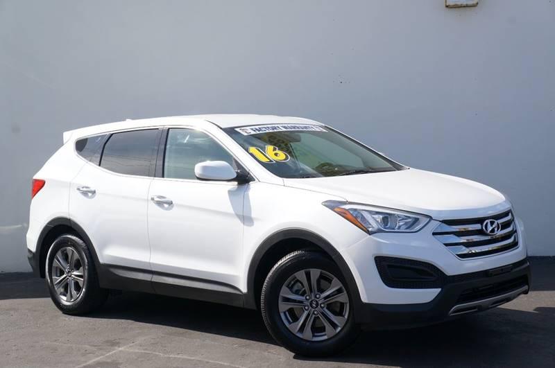 2016 HYUNDAI SANTA FE SPORT 24L 4DR SUV frost white pearl new pricepriced below kbb fair