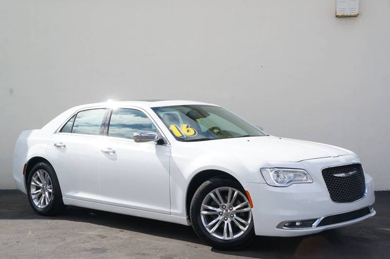 2016 CHRYSLER 300 C 4DR SEDAN bright white clearcoat carfax certifiedno accidents1 owner