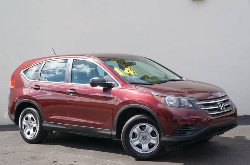 2014 HONDA CR-V LX 4DR SUV basque red pearl ii carfax certifiedno accidents1 ownerfue