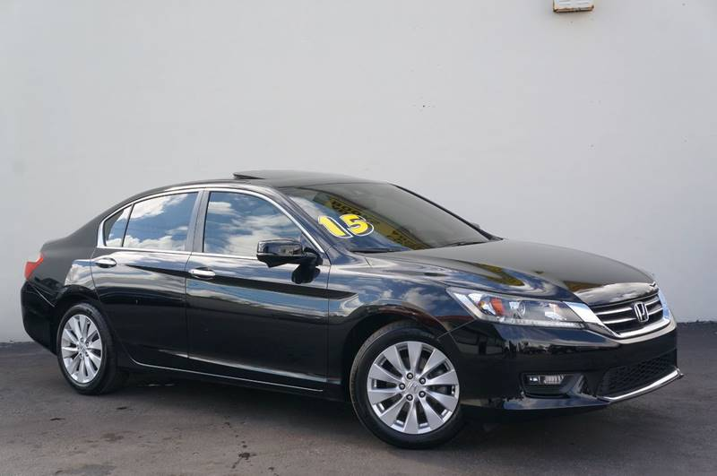 2015 HONDA ACCORD EX L 4DR SEDAN black leatherpriced below kbb fair purchase price1 own