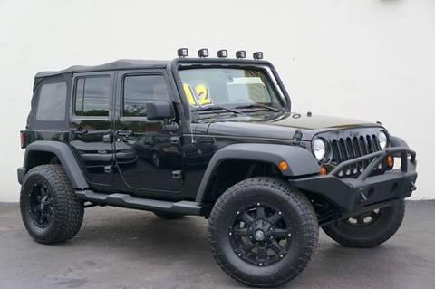 2012 Jeep Wrangler Unlimited for sale at Prado Auto Sales in Miami FL