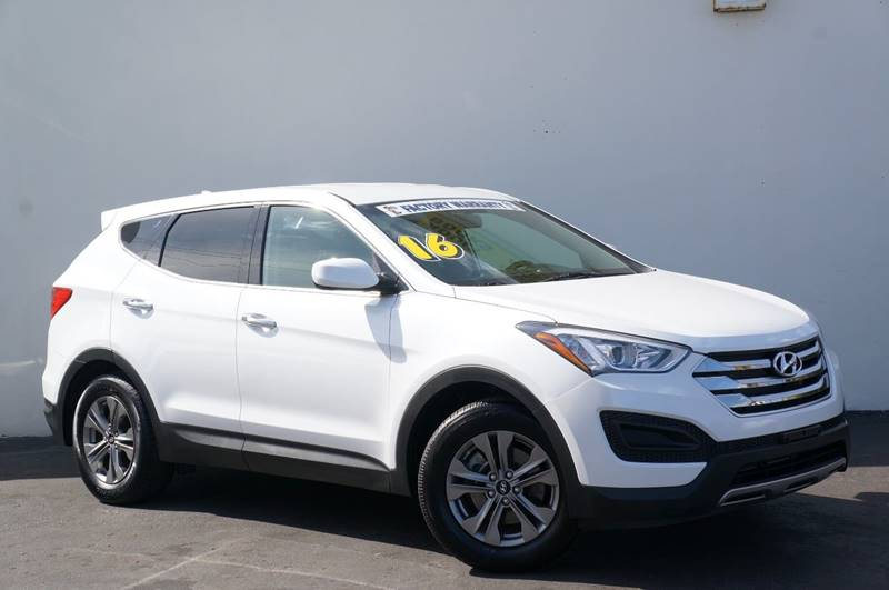2016 HYUNDAI SANTA FE SPORT 24L 4DR SUV frost white pearl new price recent arrival priced b
