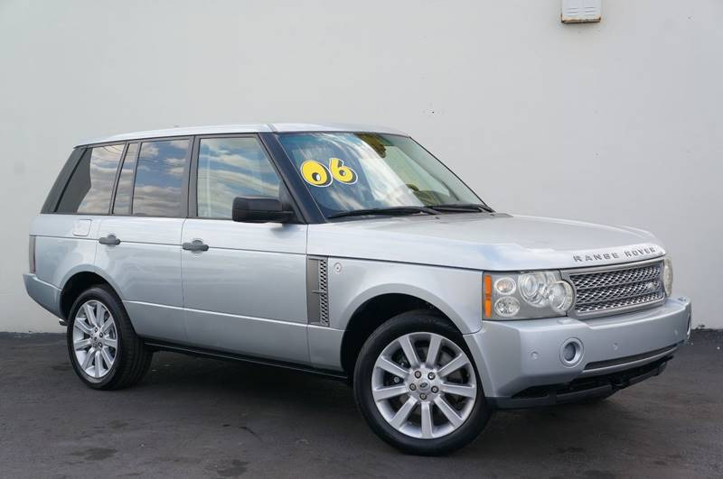 2006 LAND ROVER RANGE ROVER SUPERCHARGED 4DR SUV 4WD zambezi silver navigation systemsunroo