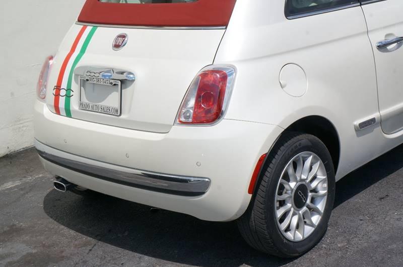 2014 Fiat 500c Lounge 2dr Convertible In Miami Fl Prado Auto Sales