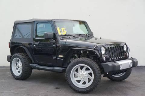 2015 Jeep Wrangler for sale at Prado Auto Sales in Miami FL