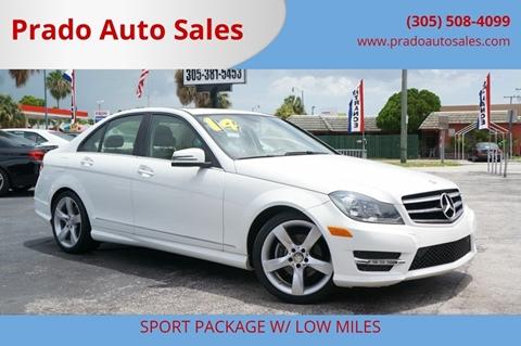 Prado Auto Sales >> 2014 Mercedes Benz C Class For Sale In Miami Fl