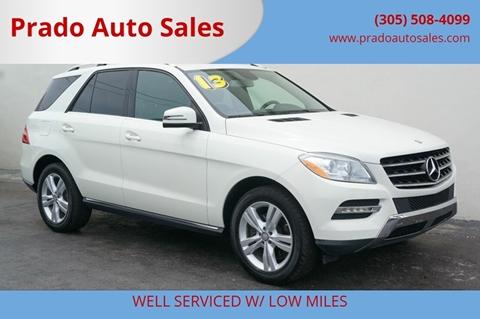 Prado Auto Sales >> 2013 Mercedes Benz M Class For Sale In Miami Fl